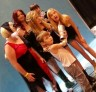 Brighton Sharbino & Kyla Kennedy of The Walking Dead pose with fans